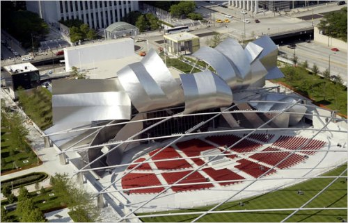 Frank Gehry's Performance Pavillion at Millenium Park