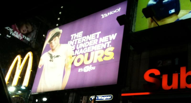 Yahoo Ad at Times Square
